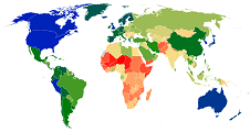 Image link to world map for mean adult height